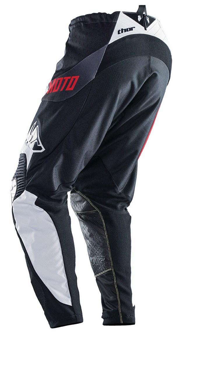 Pantaloni cross Thor Core Razor rosso nero bianco