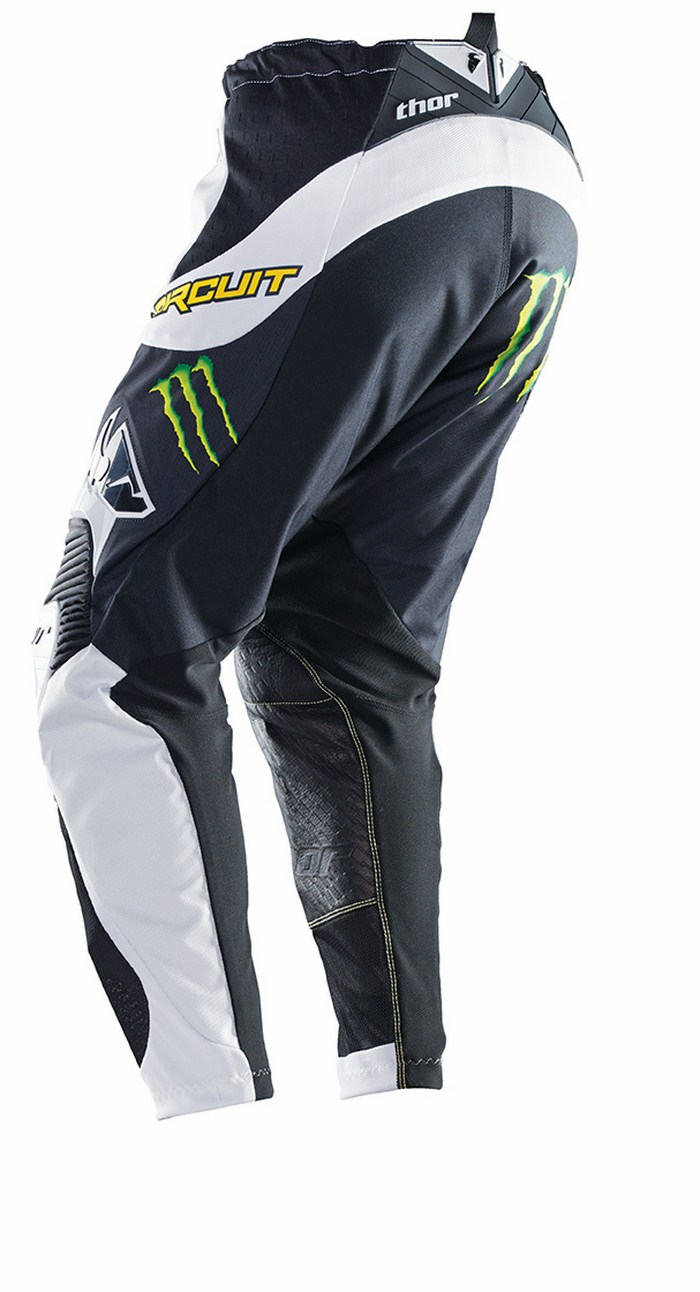 Thor Core Pro Circuit Pants cross white black