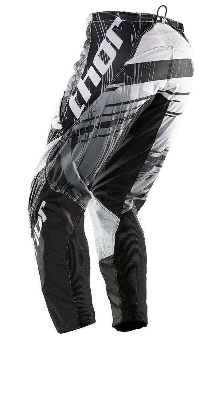 Pantaloni cross Thor Phase Swipe bianco nero
