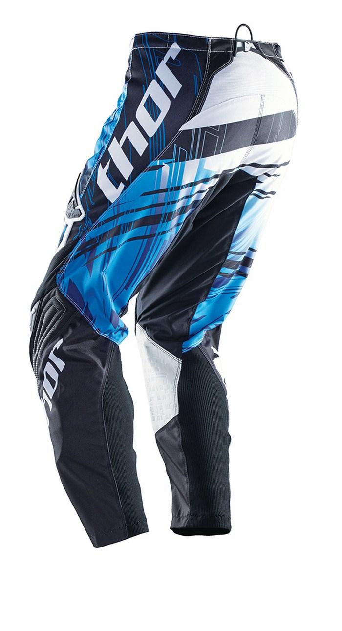 Pantaloni cross Thor Phase Swipe bianco nero blu