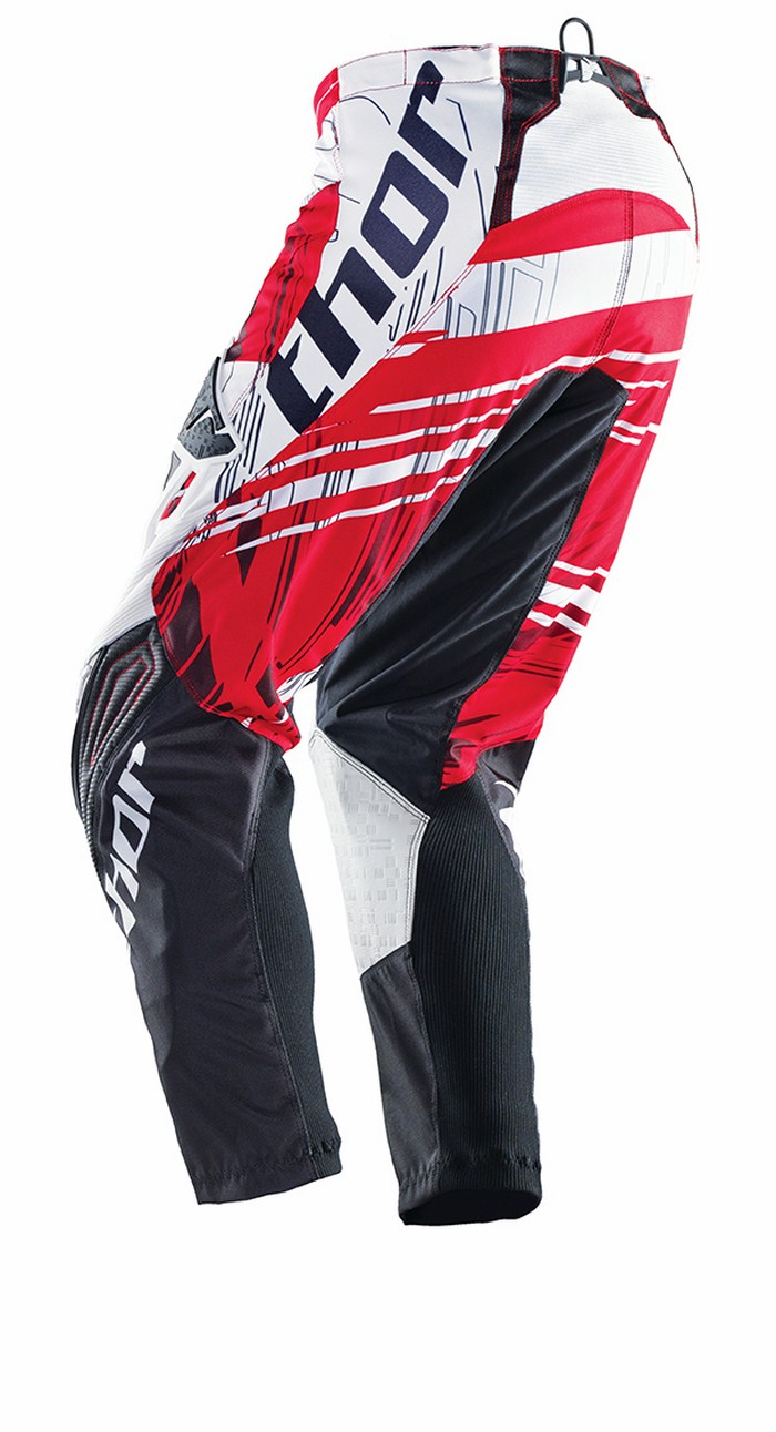 Thor Phase Pants cross Swipe white black red