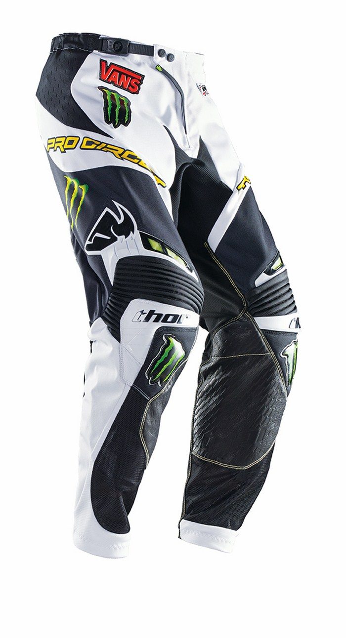 Pantaloni cross Thor Core Pro Circuit bianco nero