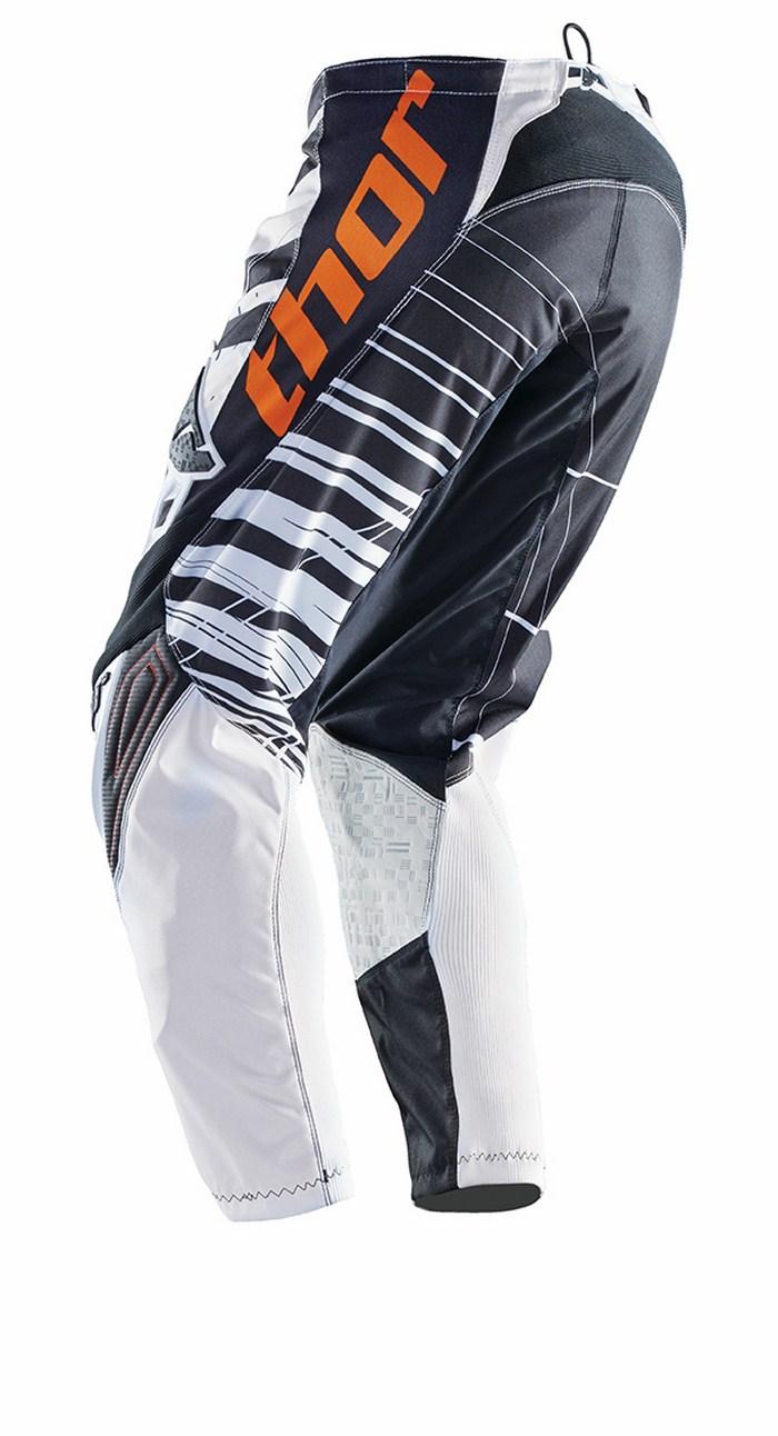 Pantaloni cross Thor Phase Mask bianco nero arancio