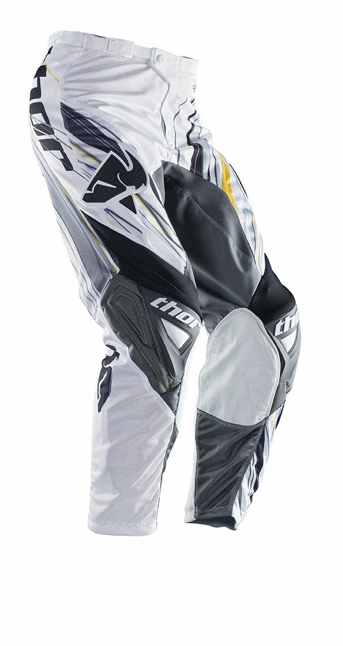 Pantaloni cross Thor Phase Vented Wired grigio bianco giallo