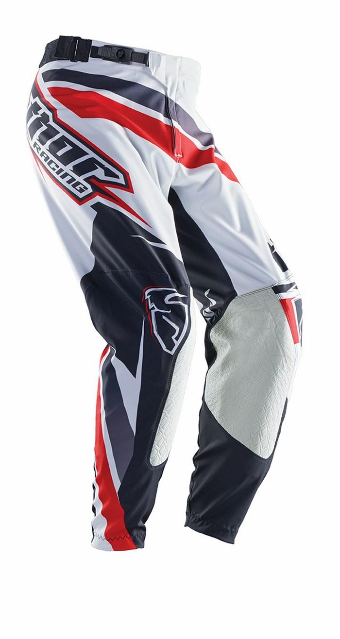 Pantaloni cross Thor Prime Slice rosso nero bianco