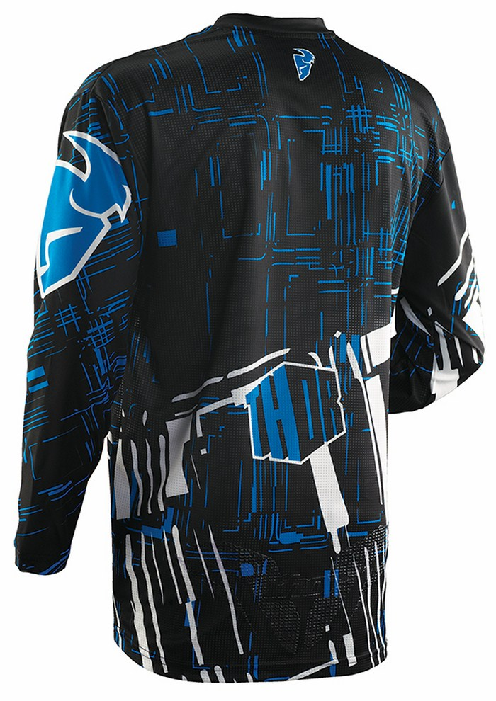 Thor Flux Jersey cross Block blue black
