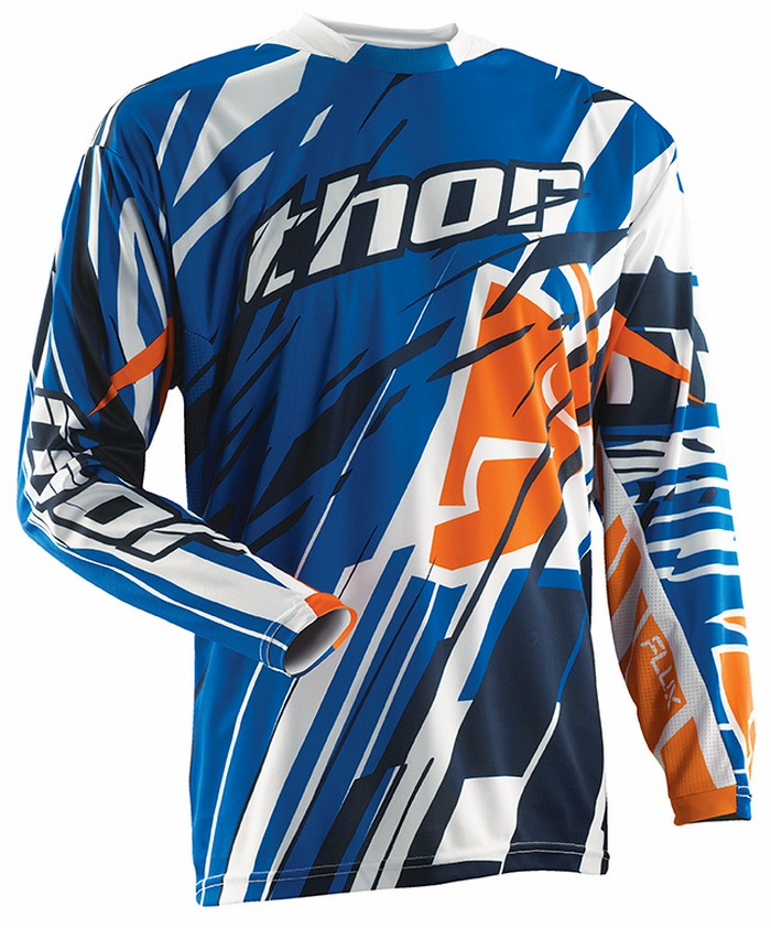 Thor Flux Jersey cross blue Shred