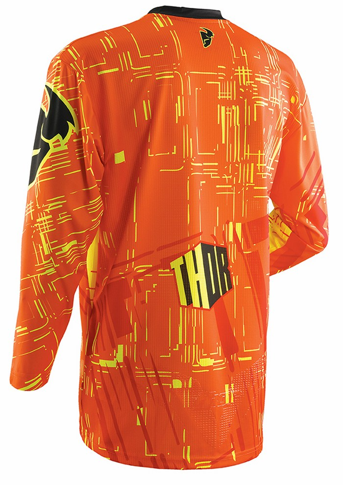 Thor Flux Jersey cross Block yellow red