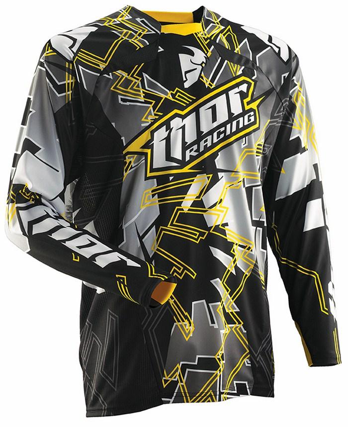 Thor Core Fragment jersey black yellow