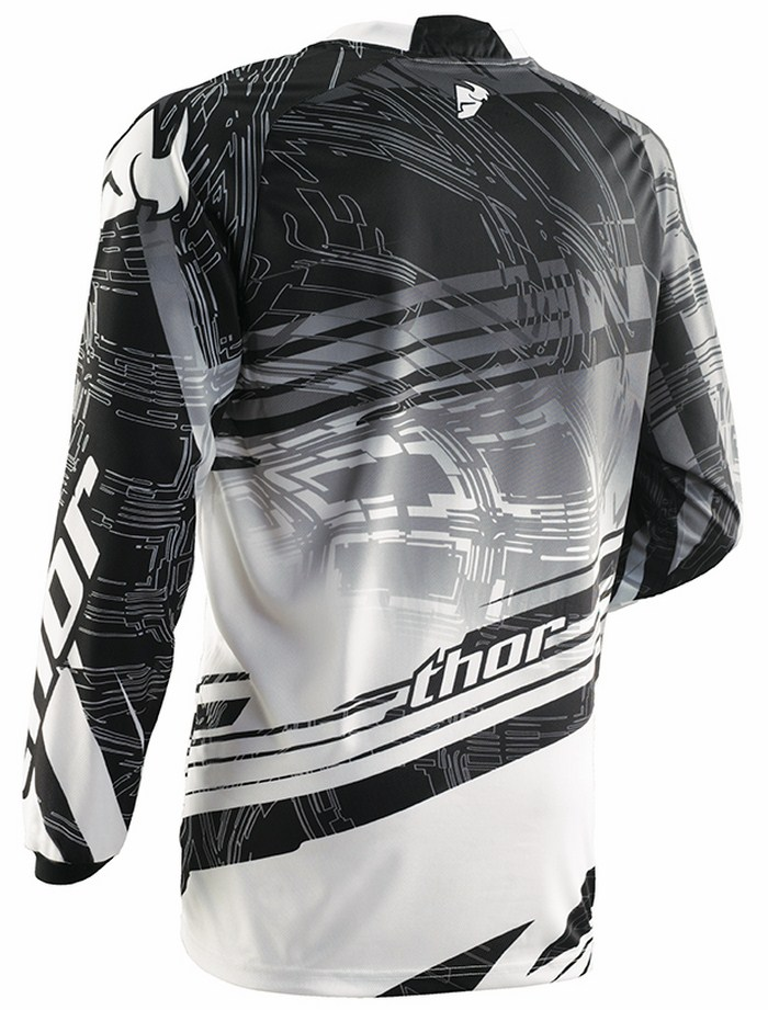 Thor Phase Jersey cross Swipe white black