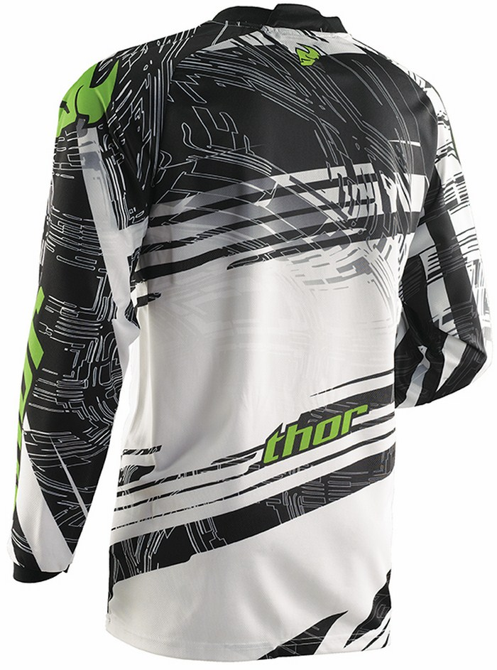 Thor Phase Jersey cross Swipe white black green