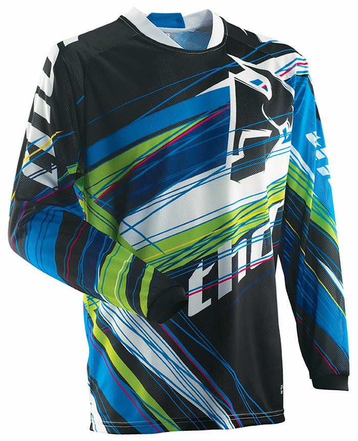 Thor Phase Vented Wired jersey blue