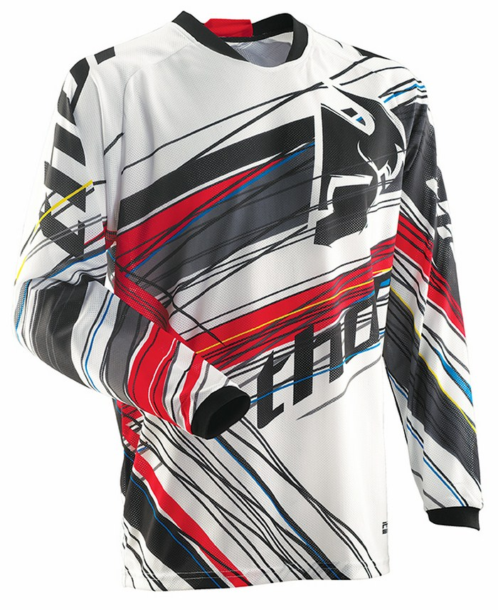 Thor Phase Vented Wired jersey red