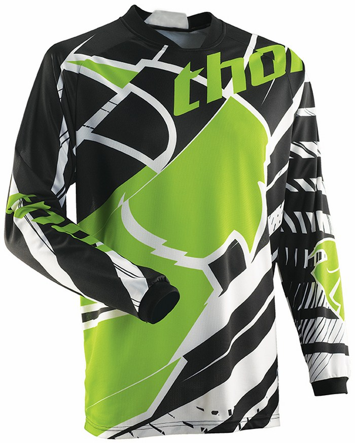 Thor Phase Mask jersey white black green