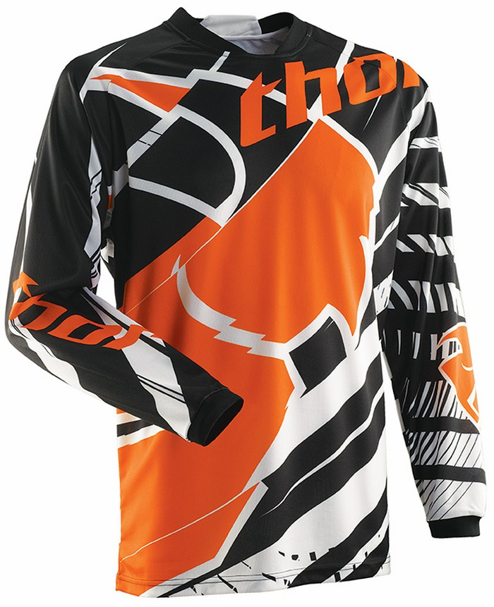 Thor Phase Mask jersey white black orange