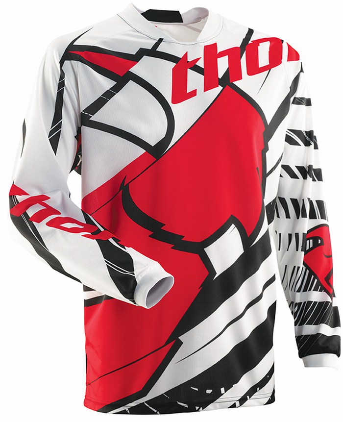 Thor Phase Mask jersey white black red