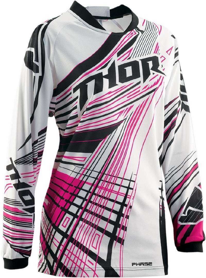 Maglia cross donna Thor Phase Flora magenta