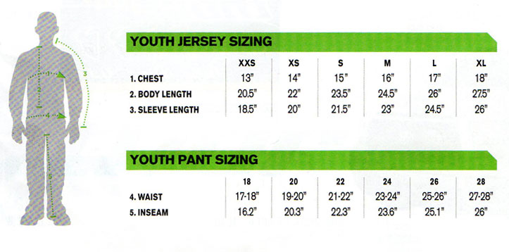 Thor Youth Phase Swipe Jersey green