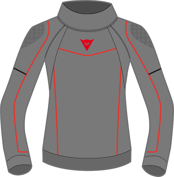 Dainese Evolution Warm Lady shirt anthracite grey