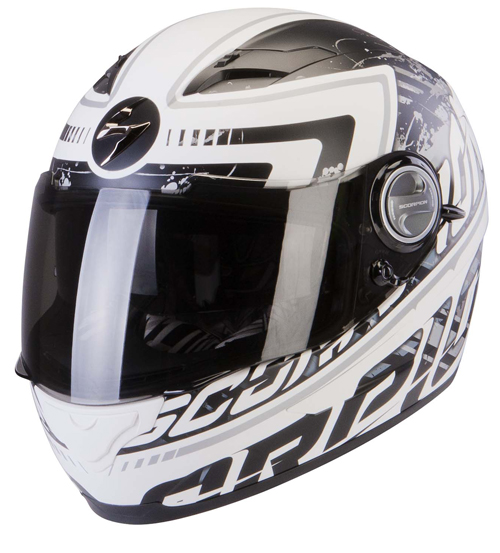 Casco integrale Scorpion Exo 500 Air Login Bianco Nero