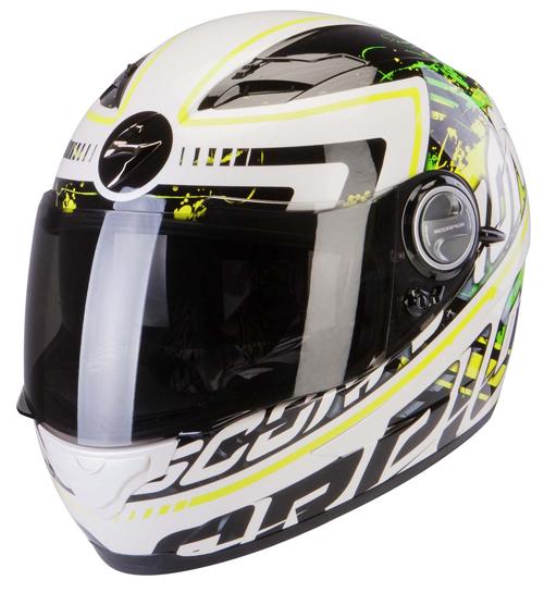 Scorpion Exo 500 Air Login full face helmet White Green