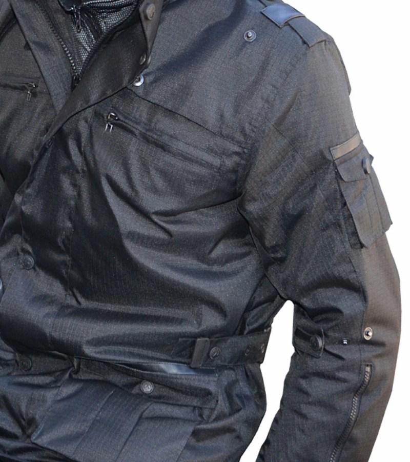 Motorcycle jacket Jollisport Black Doom