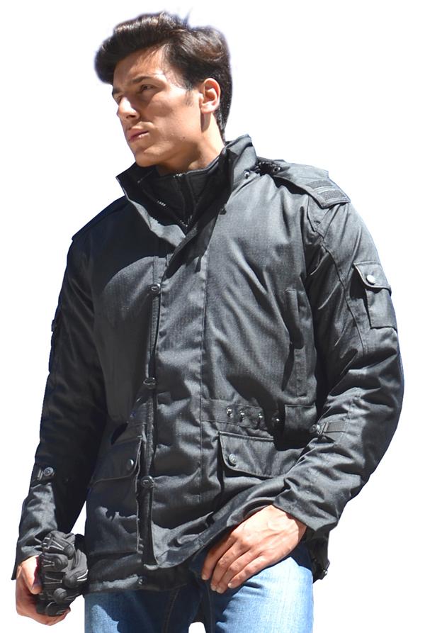 Motorcycle jacket Jollisport Dark Black