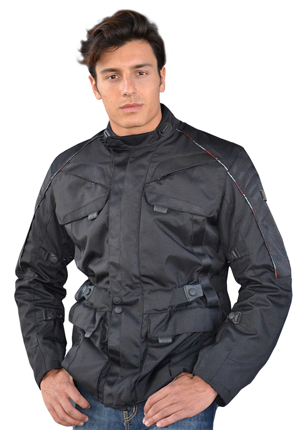 Black motorcycle jacket Jollisport Empire