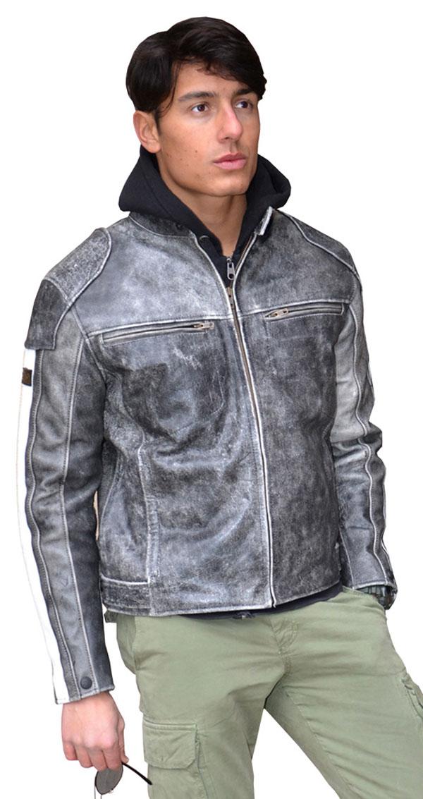 Motorcycle jacket leather vintage Coach Jollisport