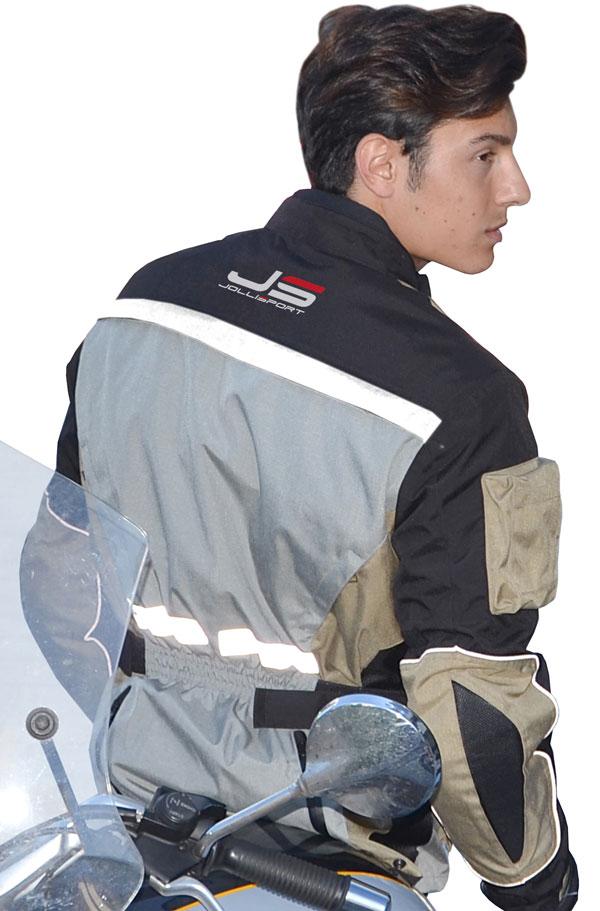 Motorcycle jacket Jollisport Cleef Beige Black Ice