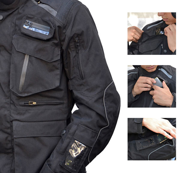 Motorcycle jacket Jollisport Cleef Black