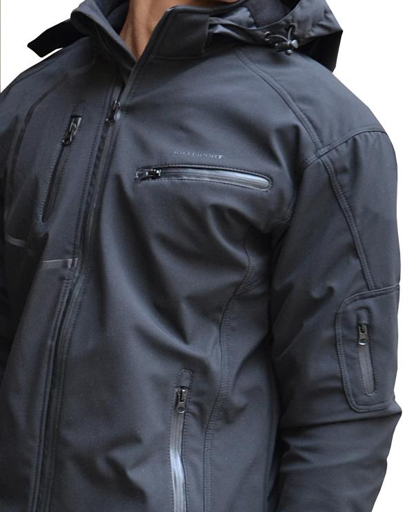 Jollisport Soft black waterproof jacket Ages