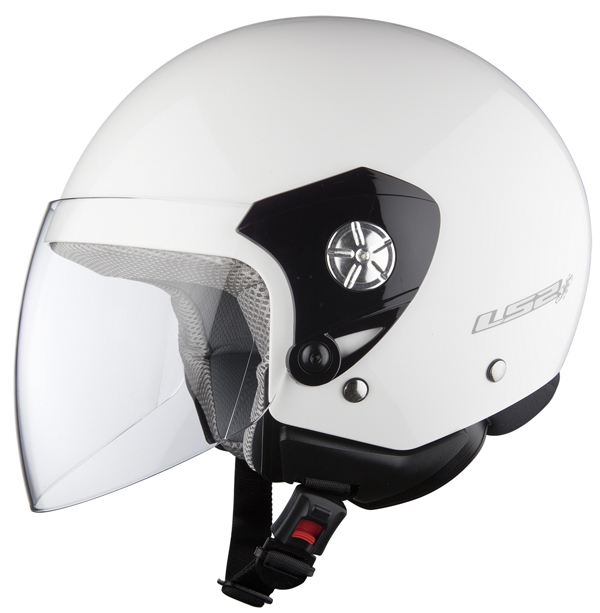 Casco jet LS2 OF518 Midway bianco