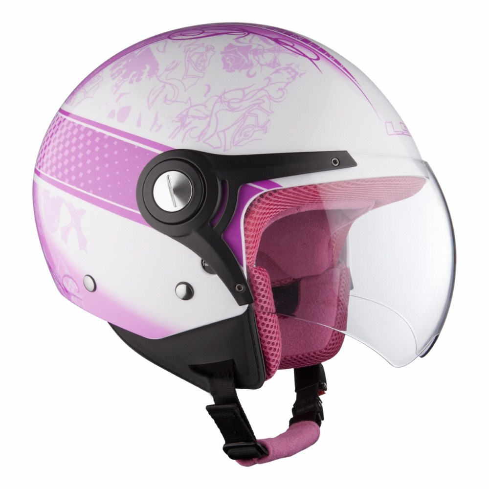 Helmet LS2 OF518 Garden white pink