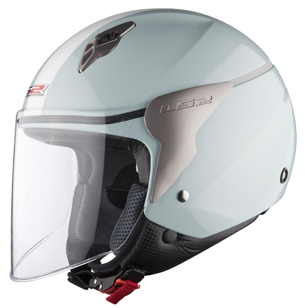 Casco jet LS2 OF559 Blink acqua marina