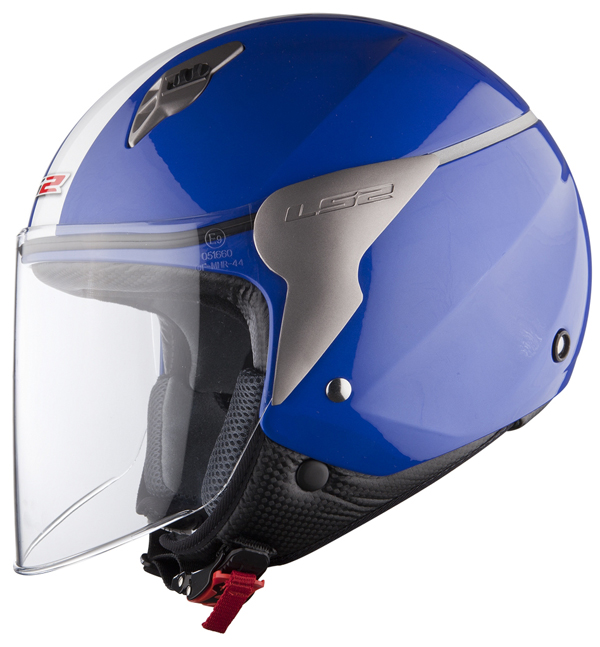 Casco jet LS2 OF559 Blink blu navy