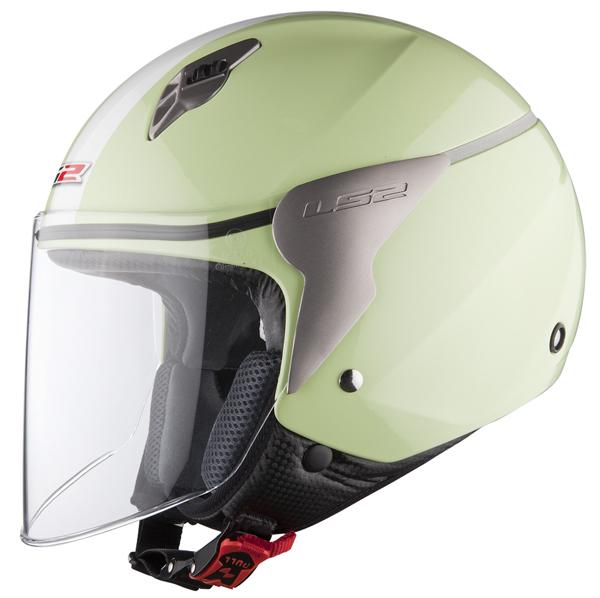 Casco jet LS2 OF559 Blink verde