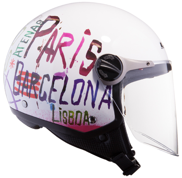 Jet helmet LS2 OF560 White City