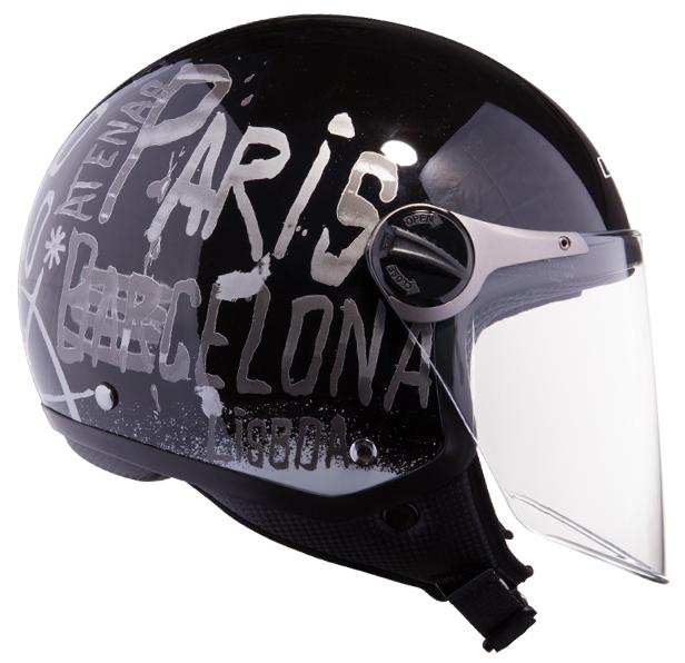 Jet helmet LS2 OF560 City Black