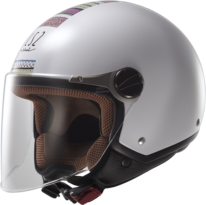 LS2 OF560 Rocket II Chameleon jet helmet White