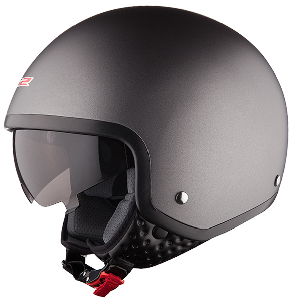 Jet helmet LS2 OF561 Wave opaque Titanium
