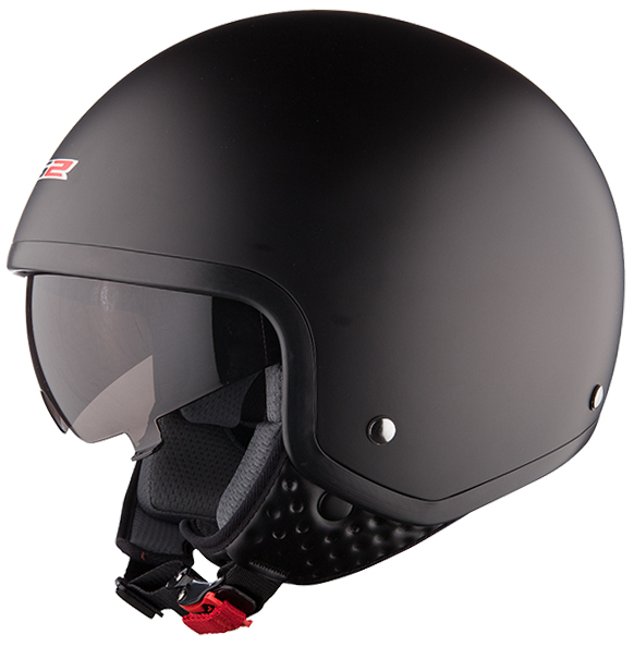 Casco jet LS2 OF561 Wave Nero opaco