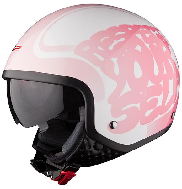 Jet helmet LS2 OF561 Respect White Pink