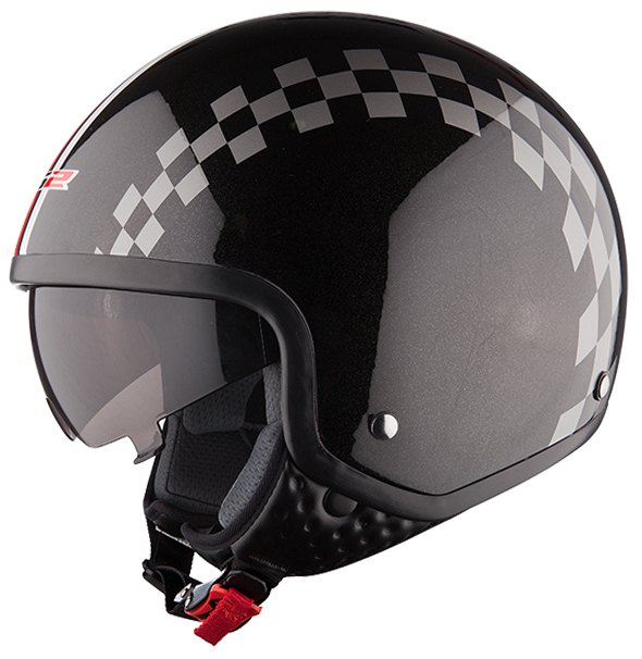 Jet helmet LS2 OF561 Black Dinoco