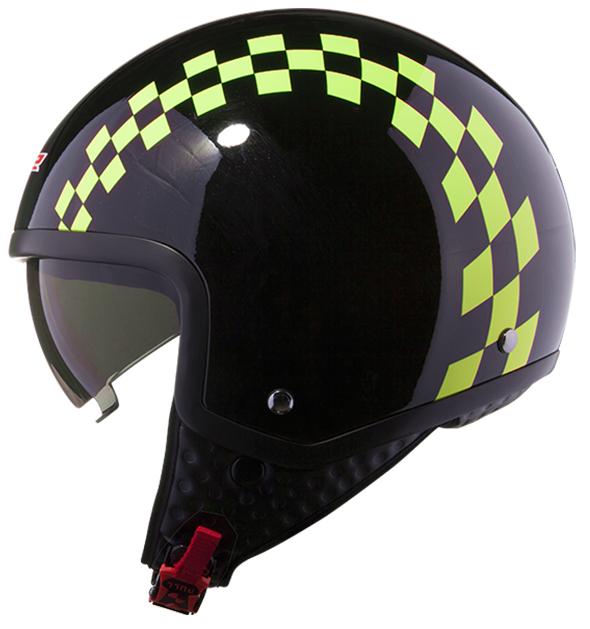 Jet helmet LS2 OF561 Dinoco Black Yellow fluo