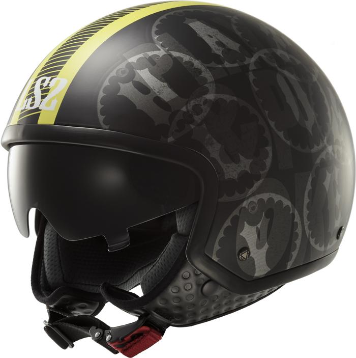 LS2 OF561 Wave Duo jet helmet matte Black Yellow