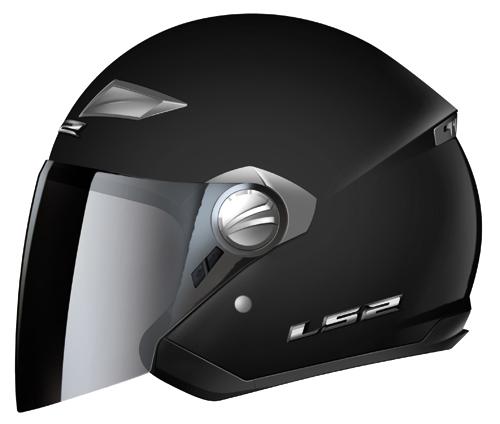 Casco moto LS2 OF569.1 Scape mentoniera staccabile nero opaco