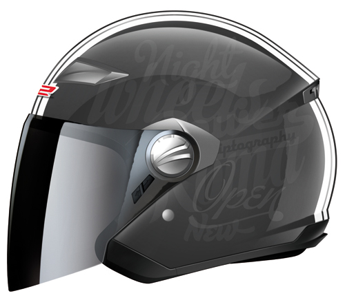 Casco moto LS2 OF569.1 Party con visierino parasole integrato