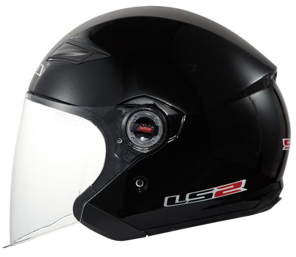 Jet helmet LS2 OF569 Black Rock
