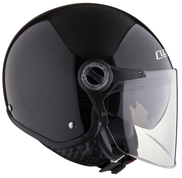 LS2 OF577 TWIN jet helmet with sunvisor Black